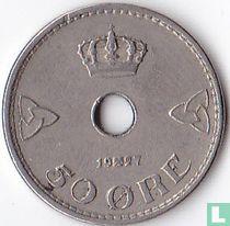 Norwegen 50 Øre 1927