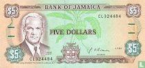 Jamaica 5 Dollars 1991