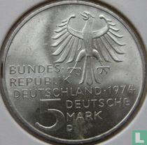 "Duitsland 5 mark 1974 ""250th birthday of Immanuel Kant"""