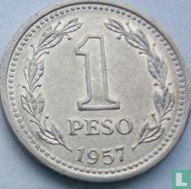 Argentinië 1 peso 1957