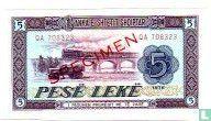 Albanië 5 Lekë 1976 / SPECIMEN