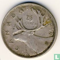 Canada 25 cents 1939
