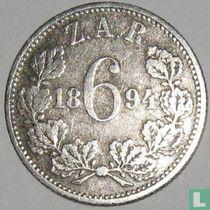 Afrique du Sud 6 pence 1894