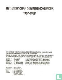 Het Stripschap seizoenenkalender 1987-1988
