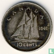 Canada 10 cents 1940