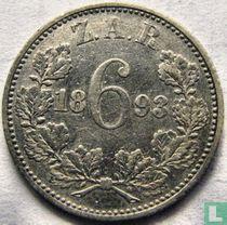 Afrique du Sud 6 pence 1893