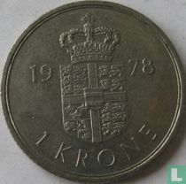 Denemarken 1 krone 1978