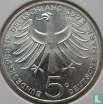 """Duitsland 5 mark 1975 """"100th anniversary Birth of Albert Schweitzer"""""""