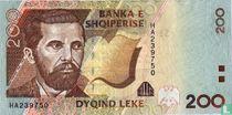 Albanië 200 Lekë 2001