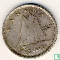 Canada 10 cents 1939