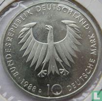 """Duitsland 10 mark 1988 """"200th anniversary Birth of Arthur Schopenhauer"""""""