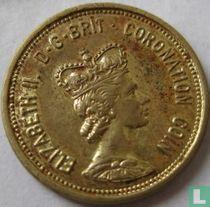 """Verenigd Koninkrijk penning """"Elizabeth II Coronation Crown"""" 1953"""