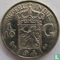 Nederlands-Indië 1/10 gulden 1941 (S)