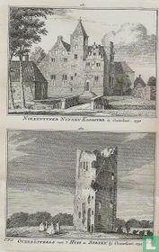 Norbentyner Nonnen Klooster te Oosterhout. 1732 / Overblyfzels van 't Huis te Stryen by Oosterhout. 1732.