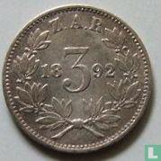 Afrique du Sud 3 pence 1892