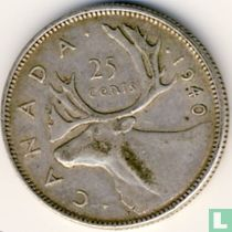Canada 25 cents 1940