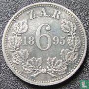 Afrique du Sud 6 pence 1895