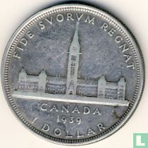 """Canada 1 dollar 1939 """"Visit of His Majesty King George VI and Her Majesty Queen Elizabeth to Ottawa"""""""