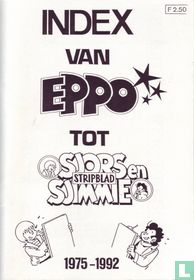 Index van Eppo tot Sjors en Sjimmie Stripblad 1975-1992