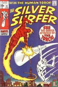 See the surfer attacked by the Human Torch