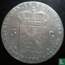 Netherlands 3 gulden 1824