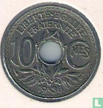 Frankrijk 10 centimes 1936