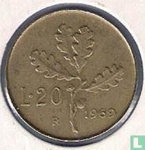Italië 20 lire 1969