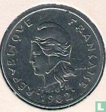 Frans-Polynesië 10 francs 1982