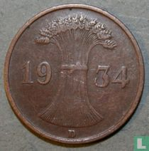 Duitse Rijk 1 reichspfennig 1934 (D)
