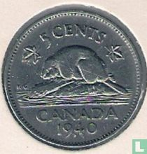 Canada 5 cents 1940