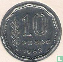 Argentinië 10 pesos 1962