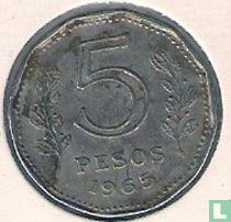 Argentinië 5 pesos 1965