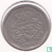 Cameroon 500 francs 1986