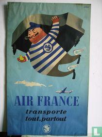 AIR FRANCE original poster of 1952. 50 x 30 cm.