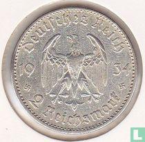 """Duitse Rijk 2 reichsmark 1934 (A) """"1ste verjaardag van de opening van de Reichstag"""""""