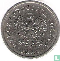 Pologne 1 zloty 1991