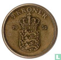 Denemarken 2 kroner 1951