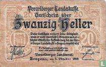 Vorarlberg 20 Heller 1919