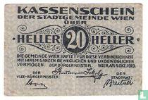 Wien 20 Heller 1919