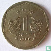 India 1 rupee 1986 (Bombay)