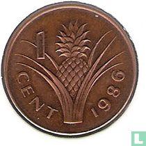 Swaziland 1 cent 1986 (brons)