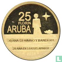 "Aruba 25 florin 2006 (PROOF) ""30th anniversary Flag and anthem and 20th anniversary Status Aparte"""