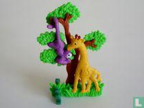 Giraf en aapje