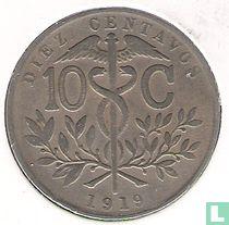 Bolivia 10 centavos 1919