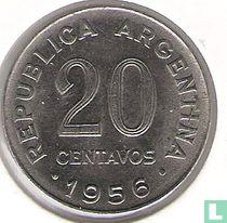 Argentinië 20 centavos 1956