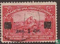 Zegels uit 1921 met opdruk