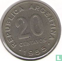 Argentinië 20 centavos 1955