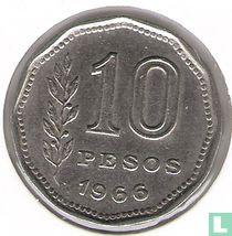 Argentinië 10 pesos 1966