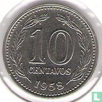 Argentinië 10 centavos 1958