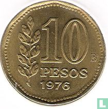 Argentina 10 pesos 1976